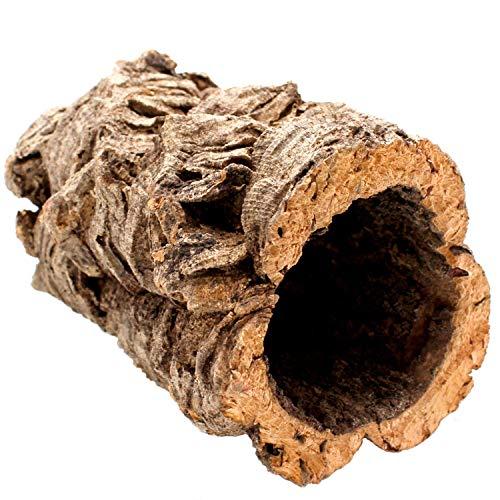 Gran tubo de corcho hecho de corteza de corcho puro, 20 cm de largo, 15 cm de alto, también ideal...
