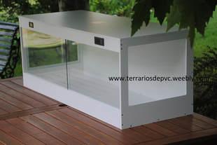 Terrario completo pvc reptiles ventanas tortugas rusa sulcata pardalis